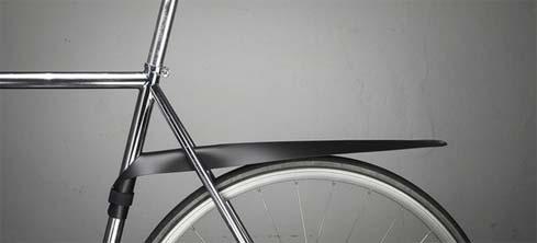 oprolbaar spatbord voor op de fiets
