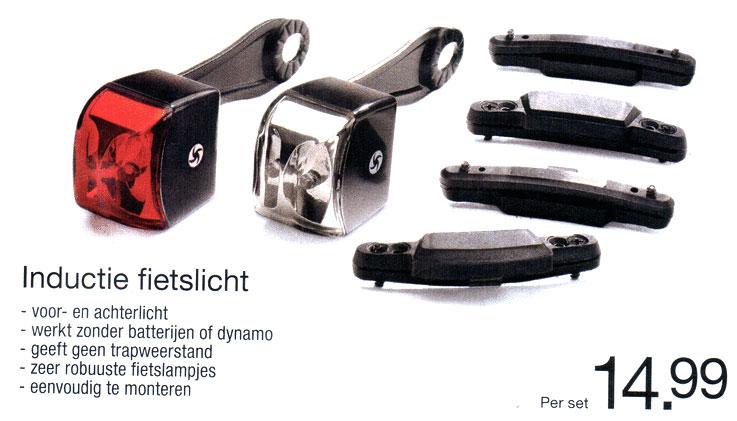 inductie fietslamp fietsverlichting
